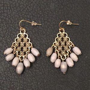 Lucky Brand Boho Daisy Chandelier Gypsy Earrings